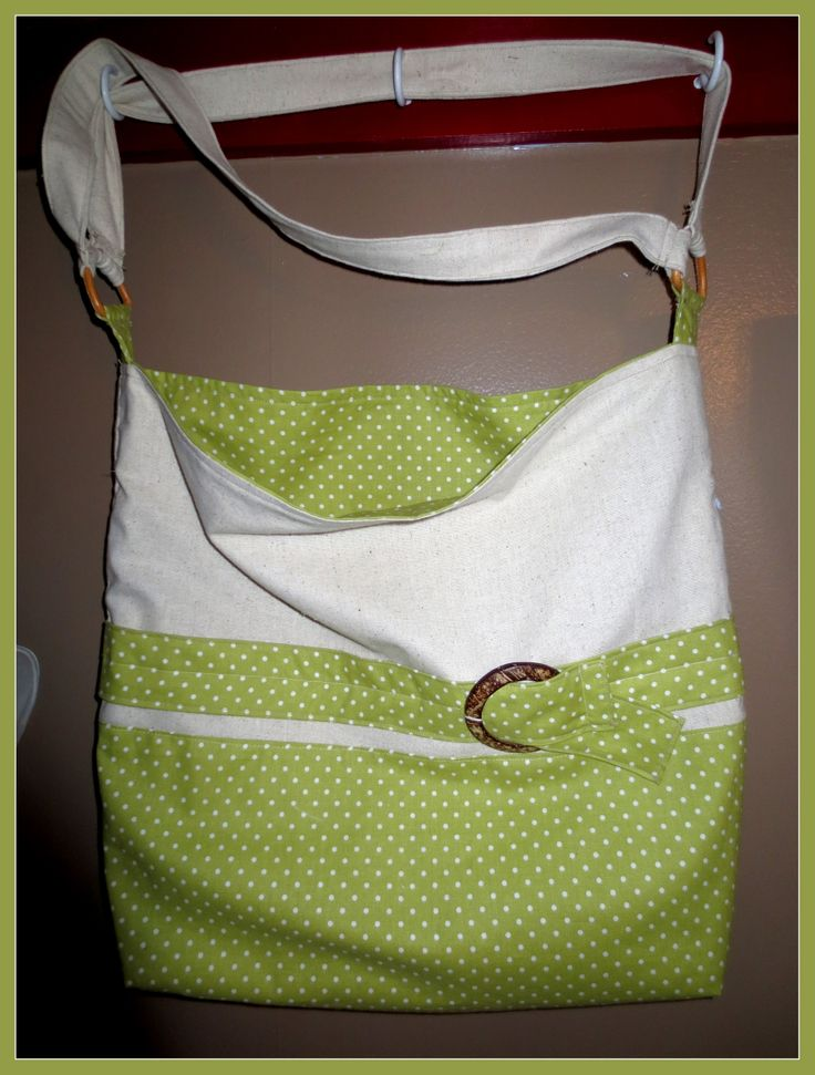 large lime tote made for a gift :)