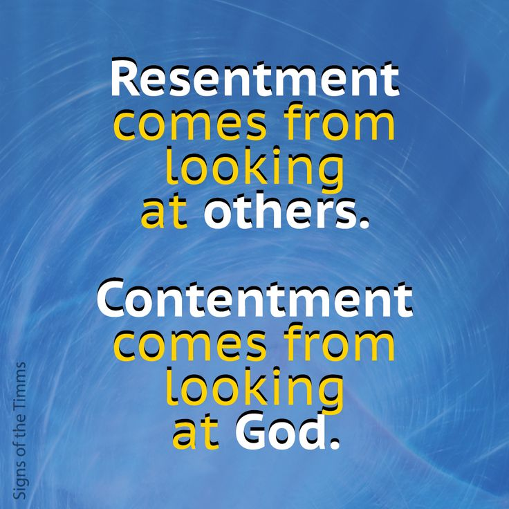 Resentment comes from looking at others. Contentment comes from looking at God. #quotes #signsofthetimms