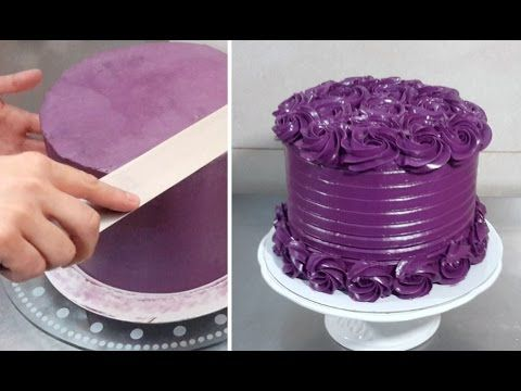 BUTTERCREAM ROSE SWIRL CAKE - Piping Ideas by CakesStepbyStep