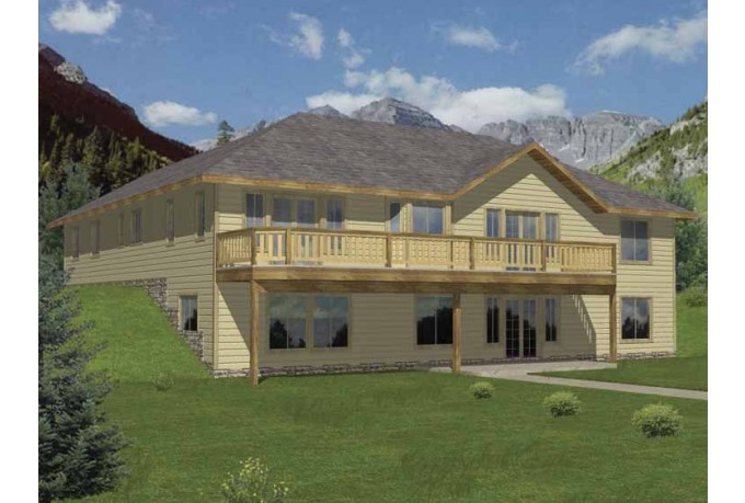 Walkout basement house plans pinterest walkout for Modern farmhouse plans with basement