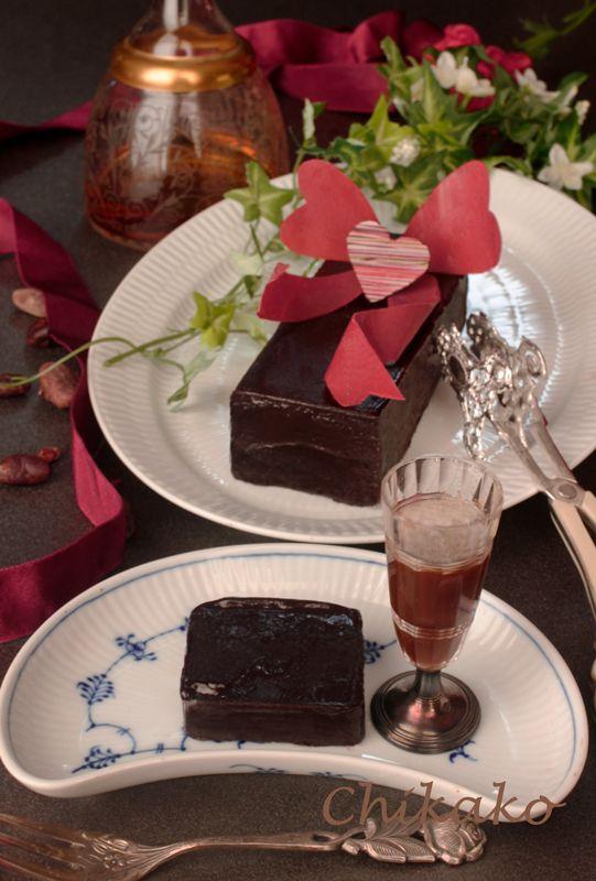 滑らか大人の味のチョコテリーヌ