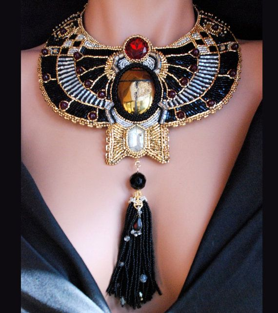 Beautiful Egyptian Themed Collar Necklaces - AllDayChic
