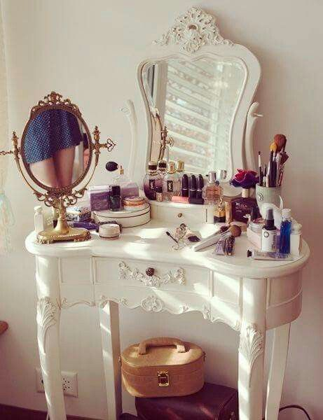White Makeup Vanity Vanities Desk Ideas Tables Dressing Table Decorating Bedroom Portal