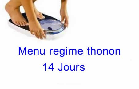 menu regime thonon