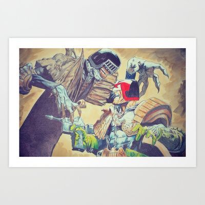 Judge Dredd Art Print by DeMoose_Art - $20.00 Free Shipping + $5 Off Each Item in your shop!