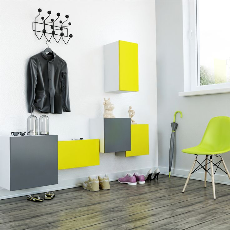 TETREES Set in #Neon Colours for an Entry Hall