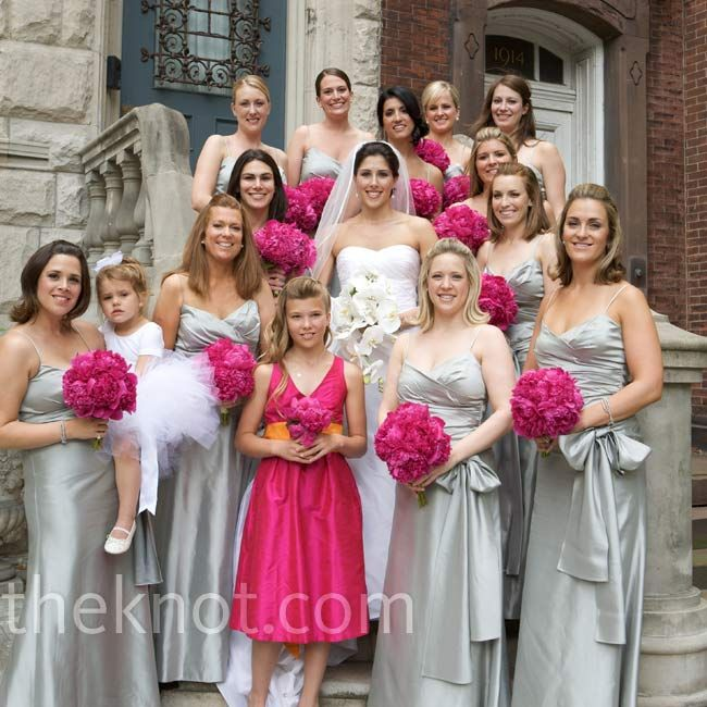 Wedding Ideas Pinterest Silver Bridesmaid Gowns Pink Grey And Weddings