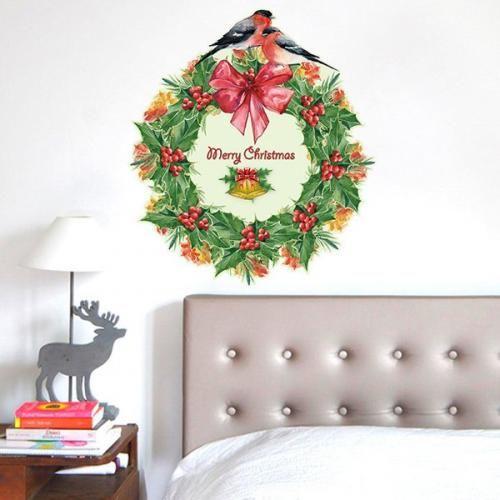 Prezzi e Sconti: #Christmas wreath glass window removable wall  ad Euro 5.95 in #Home #Moda