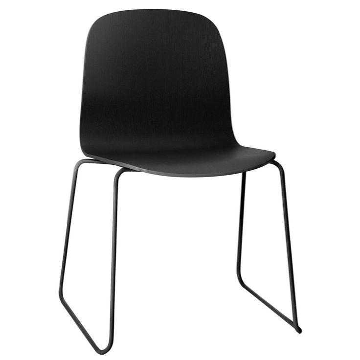 Visu stol stålben, svart i gruppen Møbler / Stoler hos ROOM21.no (123323)