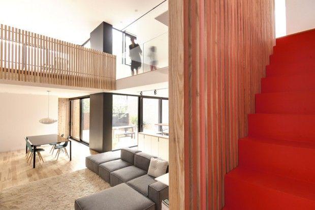 Coup de coeur pour cette transformation d'un duplex en maison unifamilialeau coeur du quartier Villeray à Montréal. On doit cette magnifique réalisation a