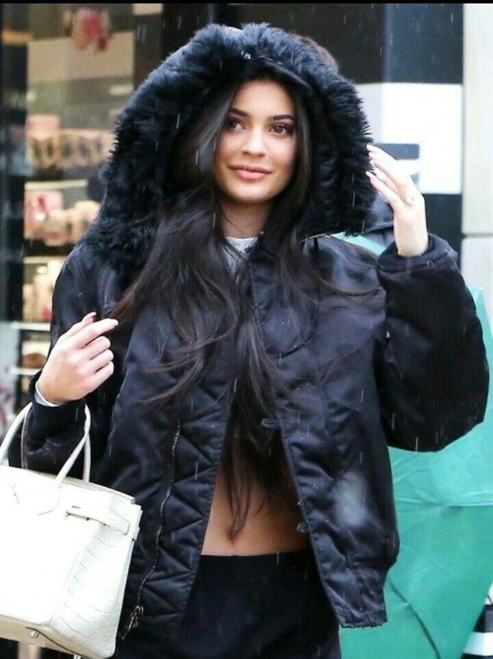 Kylie Jenner.   Cute coat.