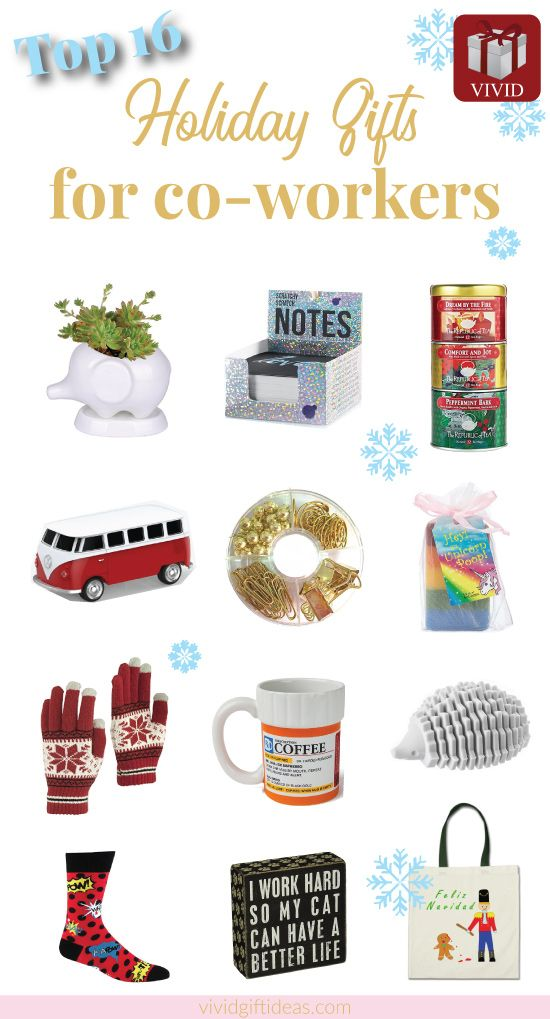 Holiday gift ideas for coworkers. Christmas gifts for coworkers #creative #cheap #office