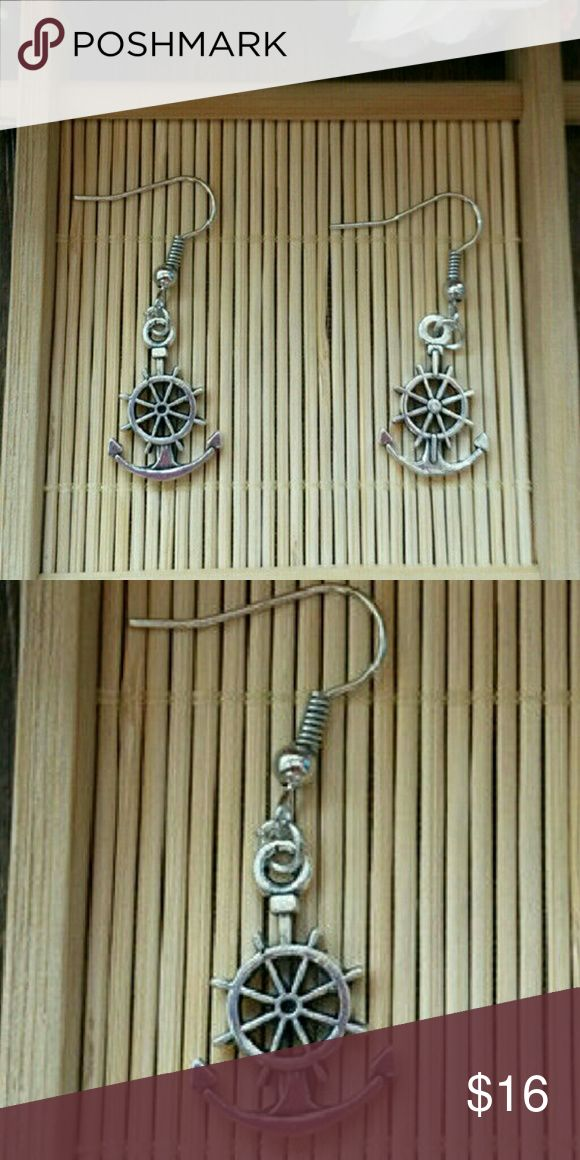 **New** Silver Steering Wheel & Anchor Earrings **New** Silver Steering Wheel & Anchor Earrings   **New** Silver Steering Wheel & Anchor Earrings  .  Material: Alloy .  L10 . SALE MARKED DOWN Jewelry Earrings
