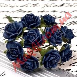 Букет роз Open Roses 10мм темно-синий, 10шт