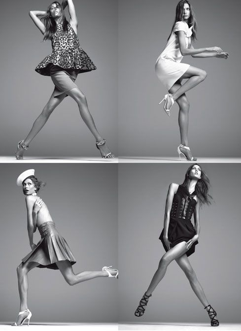 Happy+Leap+Year!+Here+Are+29+Pictures+of+Models+Leaping: Steven+Meisel,+Vogue+Italia