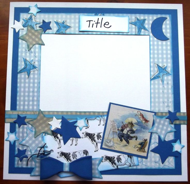 Hey Diddle Diddle - this layout will hold 1 large, 2 medium or 3 small photos.