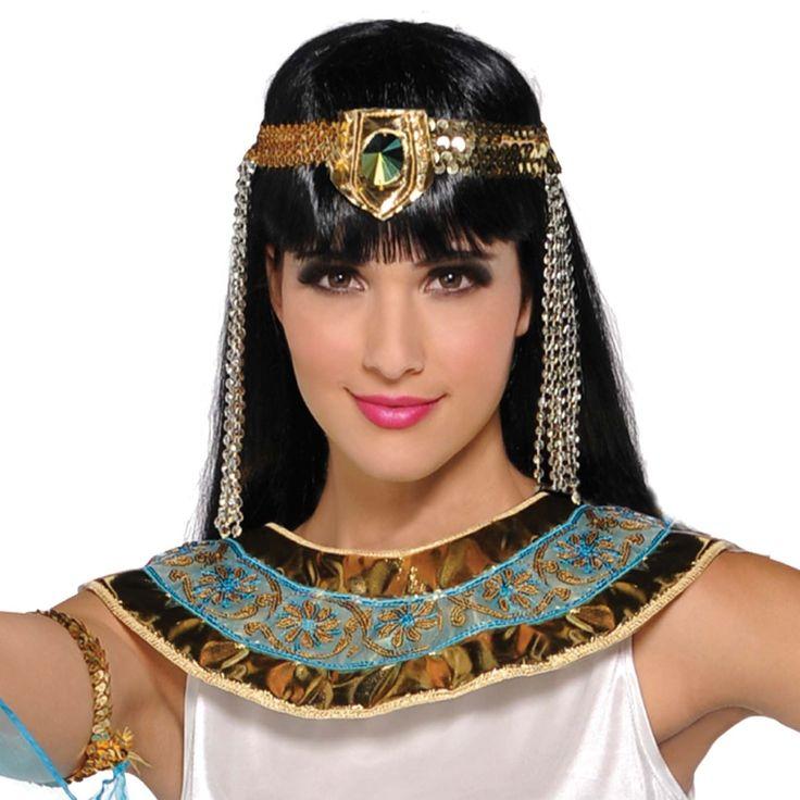 Ladies-Egyptian-Queen-Cleopatra-Roman-Halloween-Fancy-Dress-Costume-Headpiece