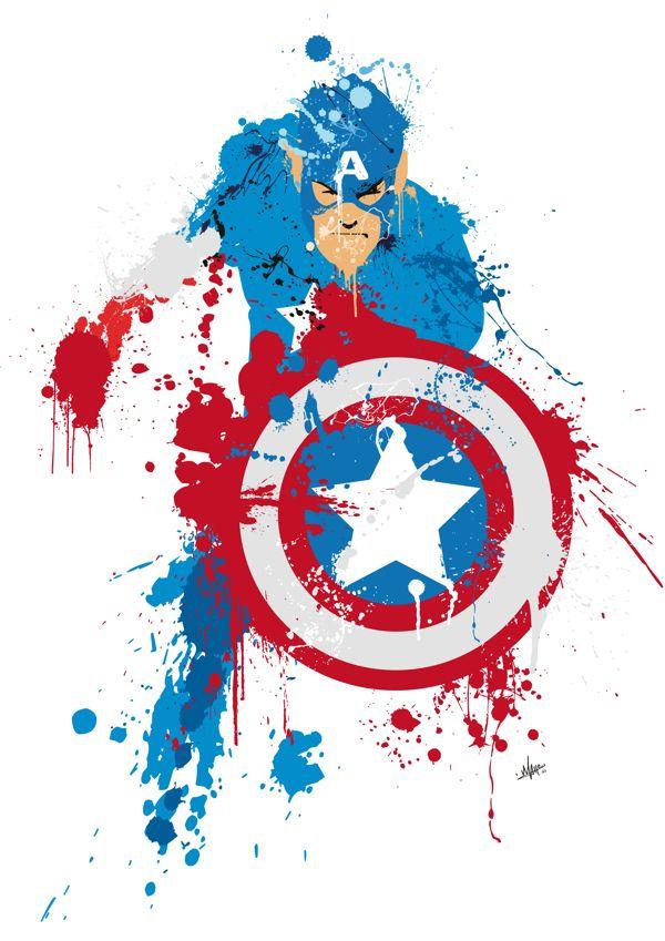 94 best marvel heroes captain america art images on for America s finest paint