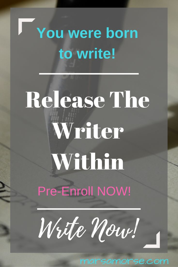 Think you can't write but you know you were born to write? I help writers. Let's get started, Write Now!