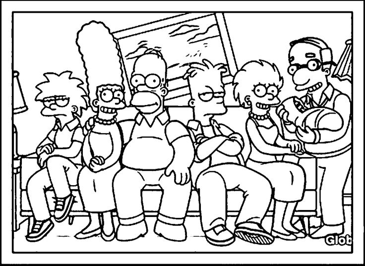 the simpsons coloring book pages - photo#14