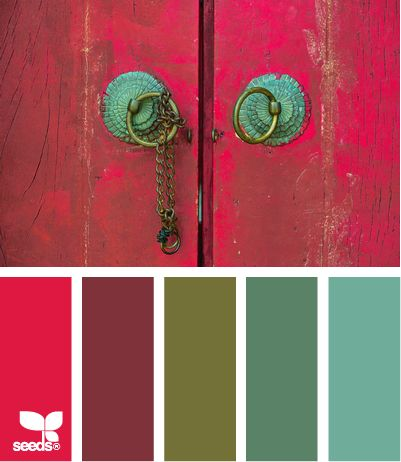 Don't be afraid of COLOR!! I hate all white walls and homes, so sterile- breathe life onto those walls with paint. Love this palette!