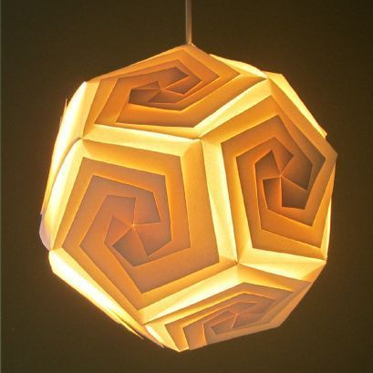 Paper lamps cast a lovely glow.