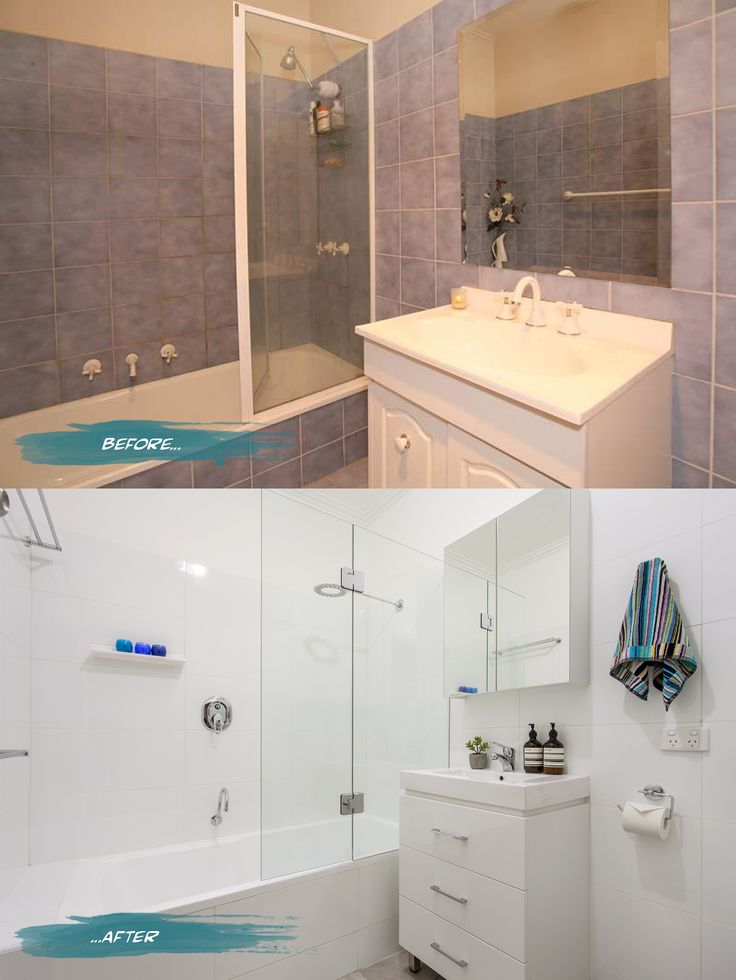 #Bathroom before and after on Romona Sandon Designs blog. #interiors #beforeandafter #styling #home #bathroom