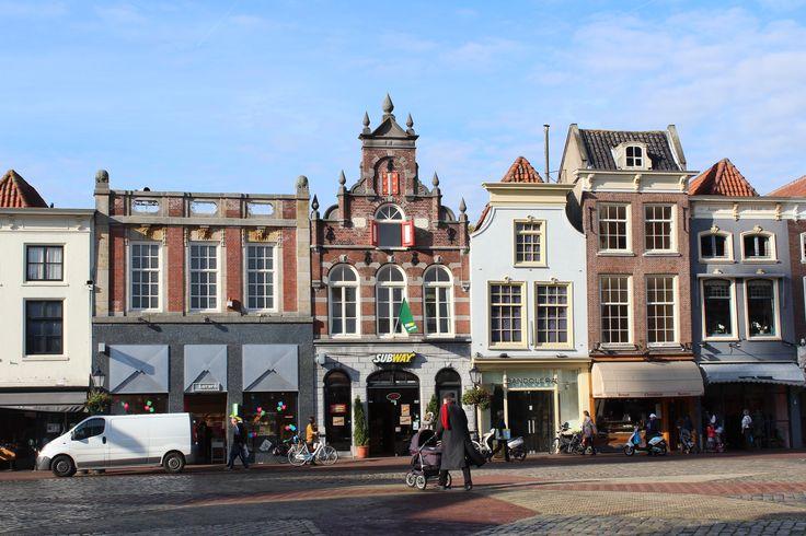 Gouda, oktober 2013, gevels aan de markt.