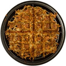 Hash Browns in the waffle iron - such a clever idea for those of us who like our potatoes crispy!