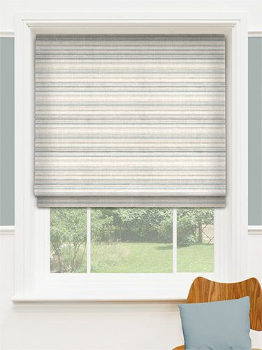 Scandinavia Stripe Aqua Roman Blind from Blinds 2go