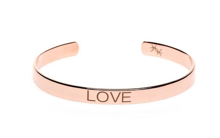 Power Quote LOVE Bracelet - HeidisHoff.no #love #bracelet #rosegold #lovequote #quote