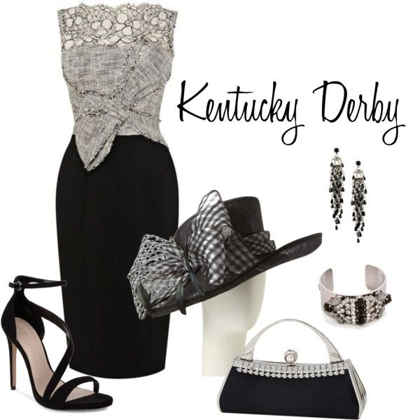 Derby Day by lwilkinson on Polyvore featuring Carvela, First People First, Iosselliani, John Lewis and Karen Millen
