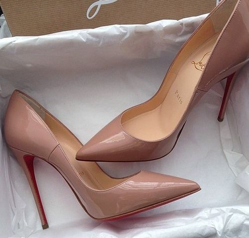 Love nude high heel shoes www.ScarlettAvery.com
