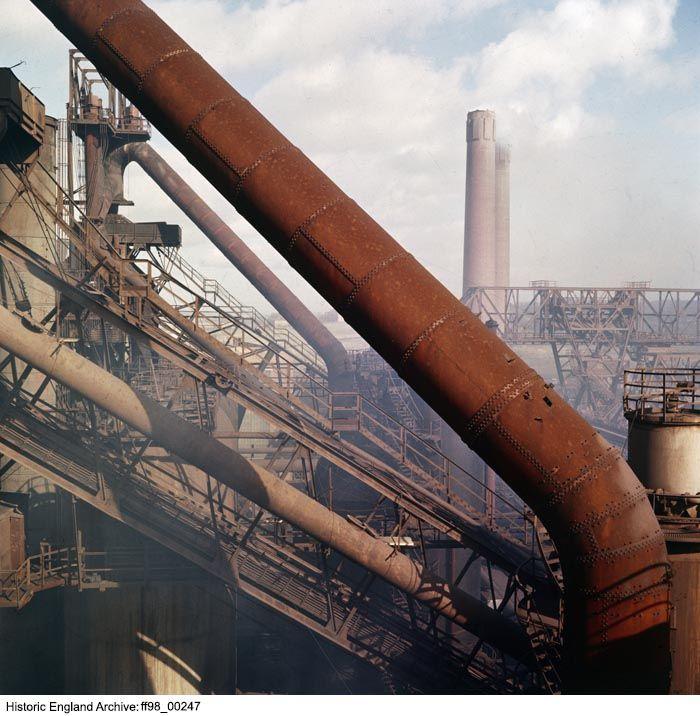 FF98/00247 Consett Steel Works,, Consett, County Durham.    Date: 1945 - 1980 Photographer: Eric De Mare