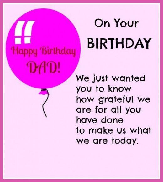 Happy Birthday Dad Quotes Lomejordetodo Happy Birthday Dad ...