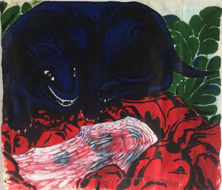 Clandestino #4 by Sally Santana #art #artist #painting #drawing - Beauton Art Gallery - http://beautonart.com | http://beautonart.dk