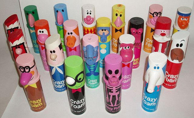 Crazy Foam >>oh wow I was trying to remember these, I could remember the smell but not what it came from. Miss these!!