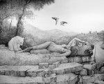 Обнаженная женщина на лоне природы Art by Christina Pettersson