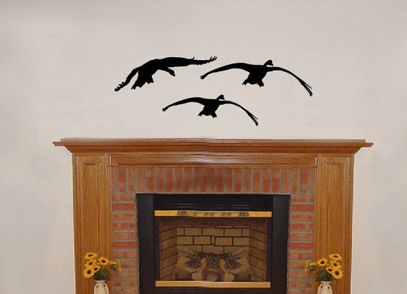 Wall Decal Geese 3 Vinyl Wall Decal 22229 by CuttinUpCustomDieCut,