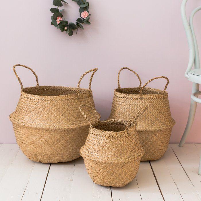 Panier boule en jonc de mer - LE PETIT FLORILEGE - Boutique d'objets de décoration d'intérieur