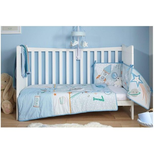 Clair De Lune Claire De Lune Forty Winks Cot Bed Quilt &Amp; Bumper... ($70) ❤ liked on Polyvore featuring home, children's room, children's bedding and baby bedding