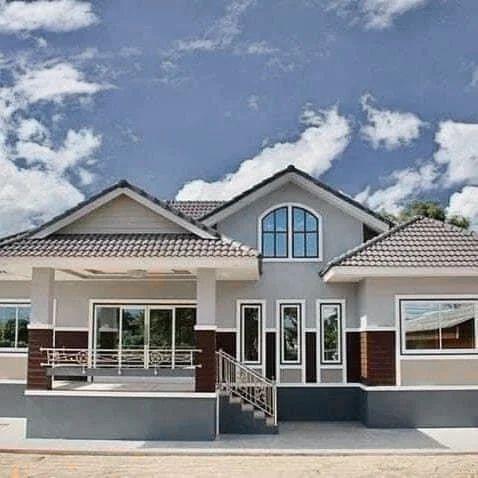 desain teras rumah minimalis dengan kombinasi atap pelana