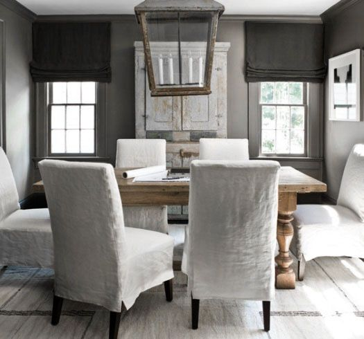 Dove Gray Home Decor Simple Dining Room French Country