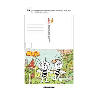 Die Biene Maja Hat Viele Tolle Einladungskarten Für Den Perfekten Maja  Kindergeburtstag Mit Verschiedenen Motiven.