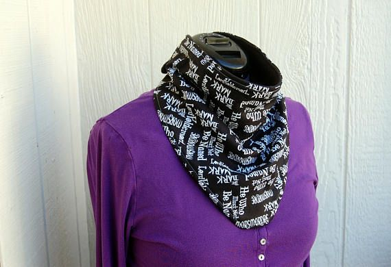 Harry Potter Bandana Bib* Adult & Childrens Bibs* Great for those with disabilities or handicap due to illness or injury.  Catches excess saliva while keeping the wet shirt at bay.