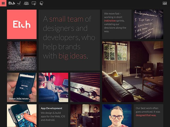 Etch - CoolHomepages Web Design Gallery