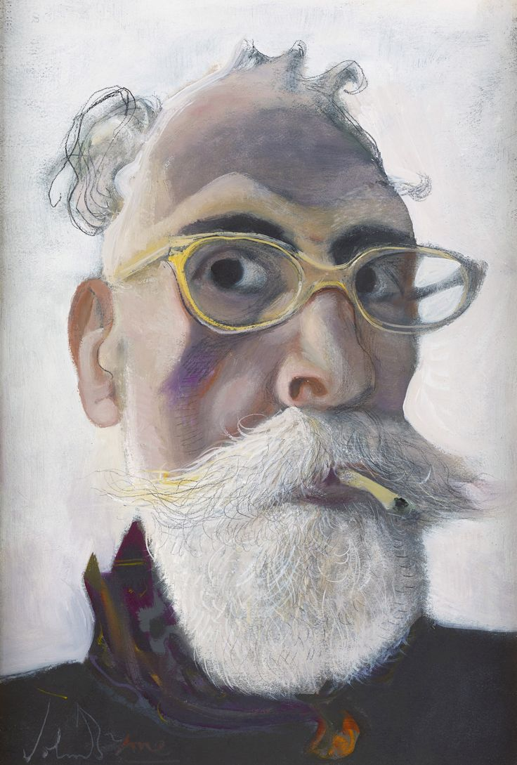 Self Portrait in Gold-tinted Glasses, 2016 by John Byrne (Scottish b.1940)