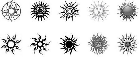 1 soles tribales tatuajes muchos soles sun diseno