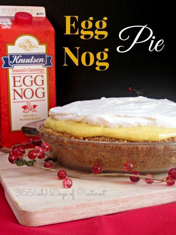 Eggnog Pie: Vol. 2, Day 40 - 365ish Days of Pinterest
