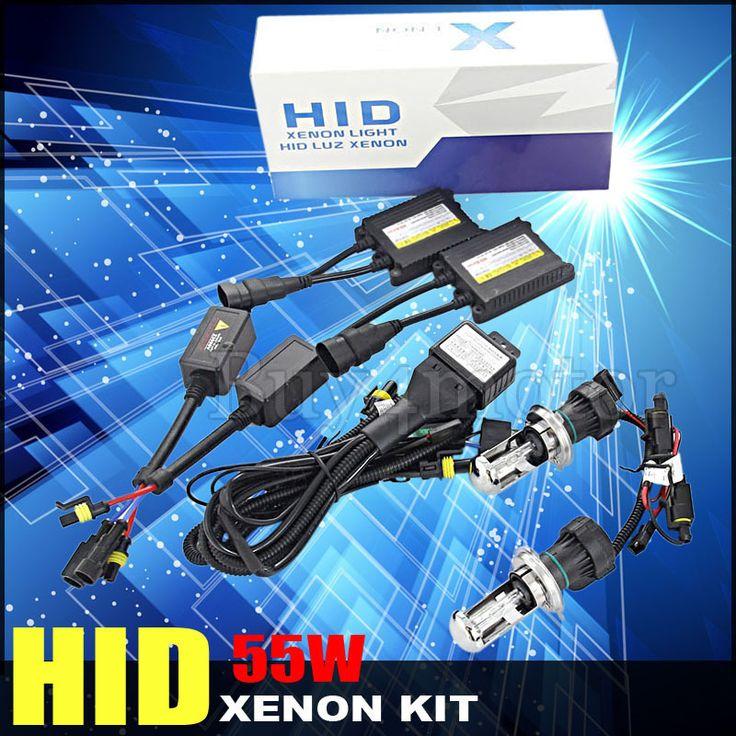 New ! H4-3 H4 55w car bixenon hid kit xenon high low Hi Lo beam Replacement 4300k 6000k 8000k 10000k 12000k 12V Car Headlights